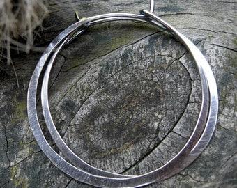 1 Inch Sterling Silver Hoops