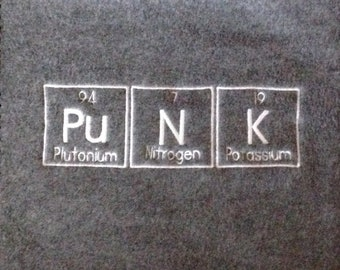 PUNK Scarf Periodic Table Science Chemistry Geek Winter Made To Order