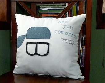 Moonrise Kingdom - See You Tomorrow 12 in x 12 in Movie Quote Pillow