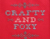 Crafty and Foxy Cross Stitch Sampler