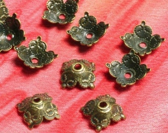 Antique brass bead cap 6mm, 36 pcs (item ID YWXH00822AB / YWXH00720AB )