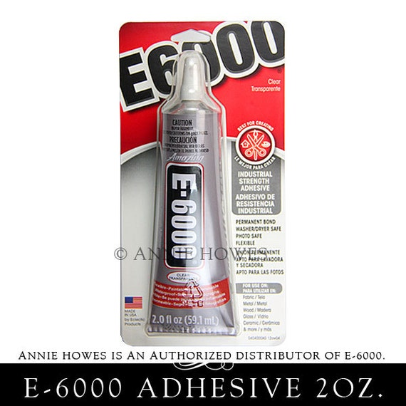 E-6000 Jewelry and Craft Adhesive in Large 2 oz Tube. Annie Howes is an Authorized Distributor of E6000. Made in USA.