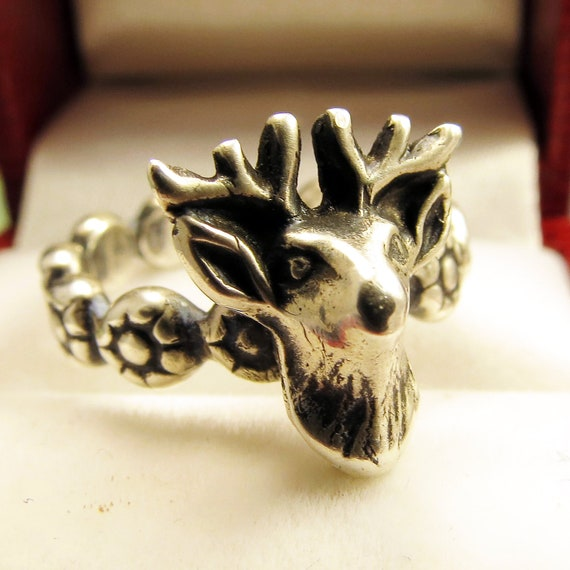 Going Stag Silver Ring