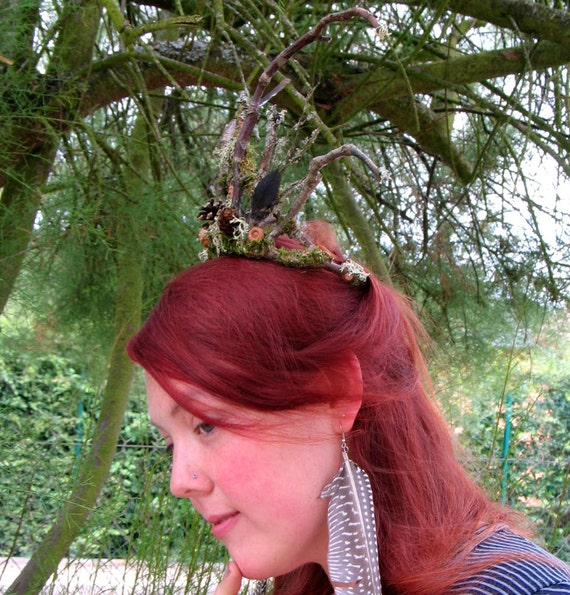 Faery Tiara in Natural Materials Custom Order