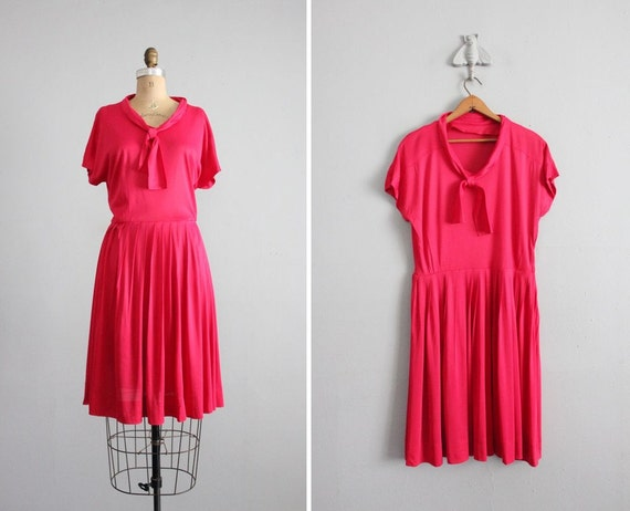 1950s vintage folly red sailor dress
