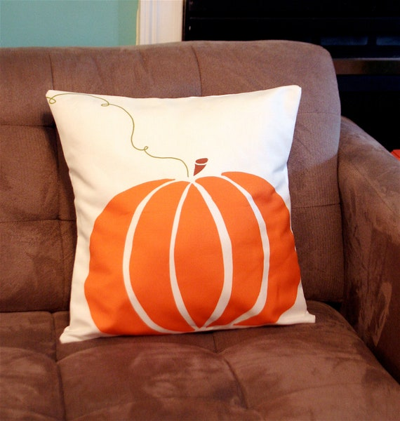 Fall Large Pumpkin Patch Pillow Cover, halloween, Orange, holiday decor