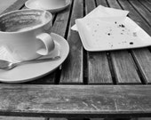 Had a Cappuccino // 5x7 photography // cup and saucer // crumbs