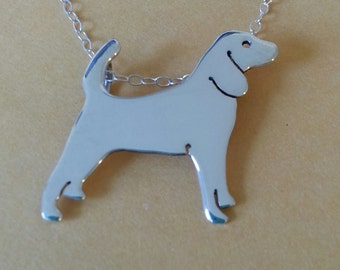 Sterling Silver Beagle Silhouette Necklace