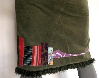 "Patchwork skirt ""Vertical"" lines"