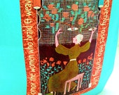 Canvas Eco Tote or Weavers Bag - Honor the Women Who Weave in AQUA or CORAL from kNotes for kNitters