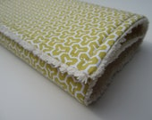 Baby Boy or Girl Chenille Burp Cloth / Yellow Honeycomb