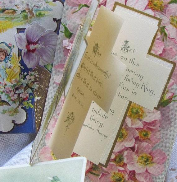 Ten Vintage Postcards..Religion..Easter..Religious..