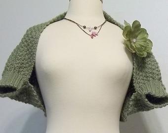 Knit Pattern - Shrug - Sweater - Bolero - Two Stitch Check Shrug - Pattern PDF Download