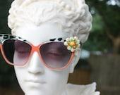 Vintage Jewelry Sunglasses -Modern Cat Eye