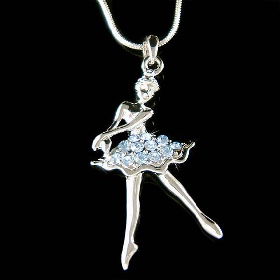 Blue swarovski crystal ballerina ballet dance girl dancer like this item mozeypictures Image collections