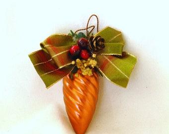 Ornament, Christmas, bronze, rippled, lightbulb, F, xmas