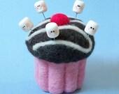 5 X Marshmallow Sewing Pin Topper, Marshmallow pin, polymer clay Marshmallow pin, Marshmellow pin, cake topper, miniature Marshmallow