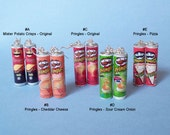 Pringles Earrings - Choose your favorite, miniature Pringles Earrings, pizza Pringles Earrings, cheddar Pringles Earrings, pringles jewelry