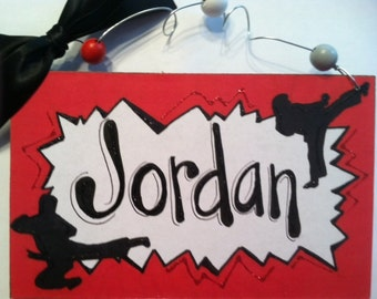 Hand personalized karate or tae kwon do sign