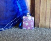 Purple Scrabble Tile Pendant
