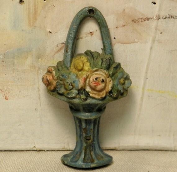 Antique Iron Flower Basket Decoration