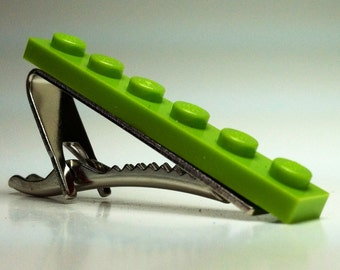 Tie Clip made with Lime Green LEGO® plate