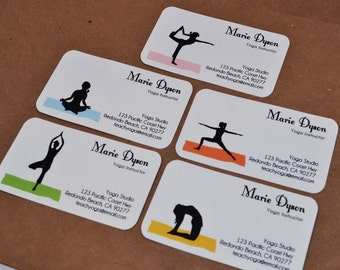Custom Yoga Business Cards Calling Cards 00112