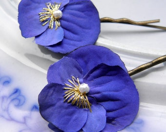 China Blue Little Viola Clips