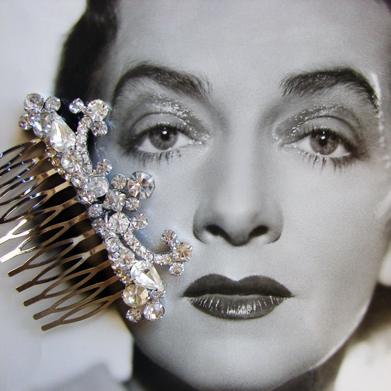 Rhinestone Hair Comb Vintage Wedding Bridal Formal Ballroom Pageant