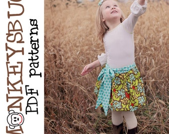 Billowy Sashed Bubble Skirt PDF eBook Pattern INSTANT DOWNLOAD
