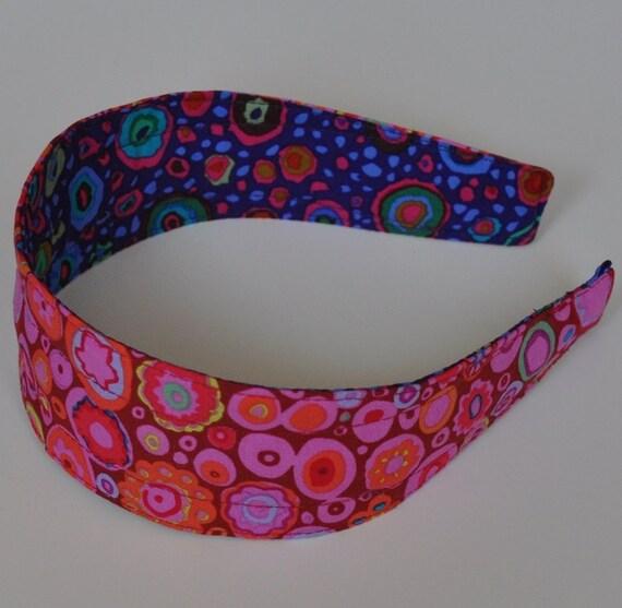 REVERSIBLE Red Roman Glass COMFORT FIT Fabric Headband