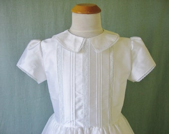 Embroidered Heirlooms Silk or Linen First Communion Dress - 2Kathleen