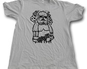 Rebel Scum Trooper  Woodblock Printed Tee Shirt with hand printed gift box