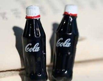 Miniature Cola Soda Pop Soft Drink Stud Post Earrings