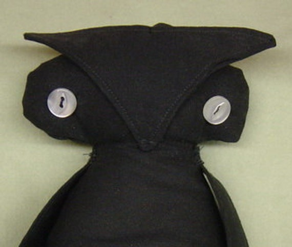 Owl, Primitive Owl, Primitive, Black, Sachet