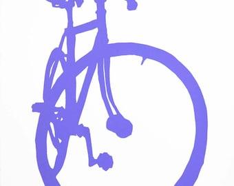 Bicycle Art -Violet Fixie Bike