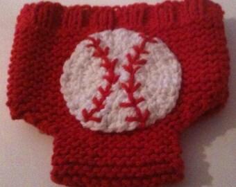 Newborn Diaper Cover Baseball on Backside Ready to Ship