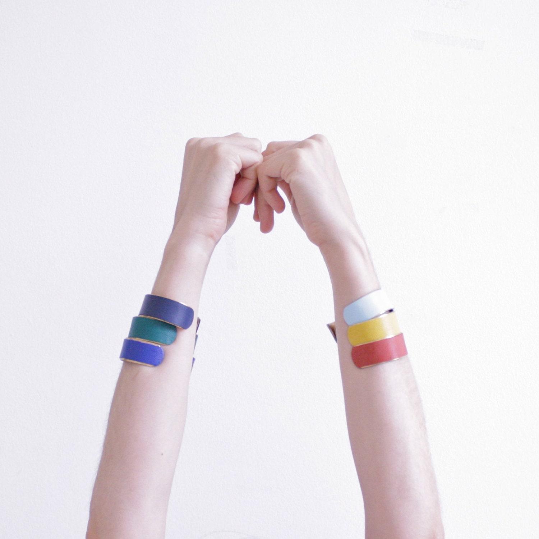 gt; Jewellery > Bracelets > Leather and Metal Hook Wrap Bracelet