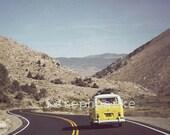VW Bus on Highway 89 Print