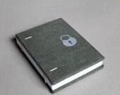 Sale - Pocket Size Coptic Bound Notebook - Dark Green