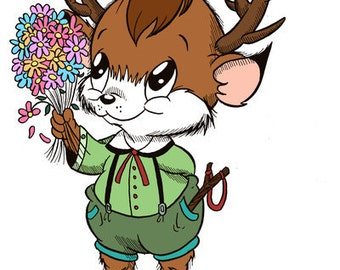 Hansel with Flowers (DIGI STAMP)