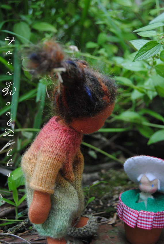 Little Stinker Fairywooldolls original Waldorf inspiered cloth doll