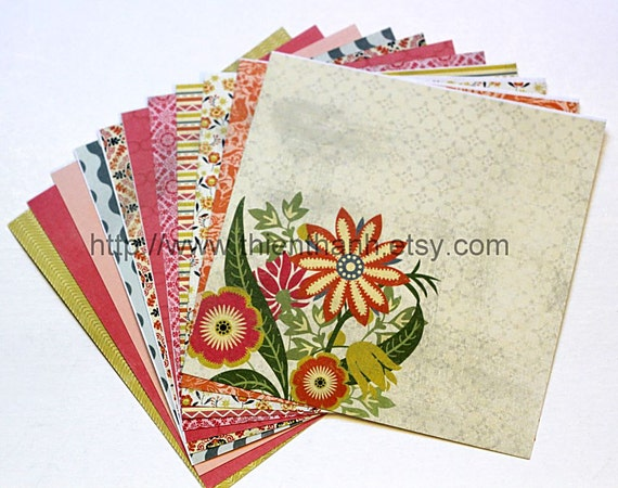 MME 2012 papers pack - indie chick - ginger collection - set of 12 - double side cardstock - 6x6