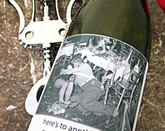 Funny New Years Eve Wine/Champagne Labels.