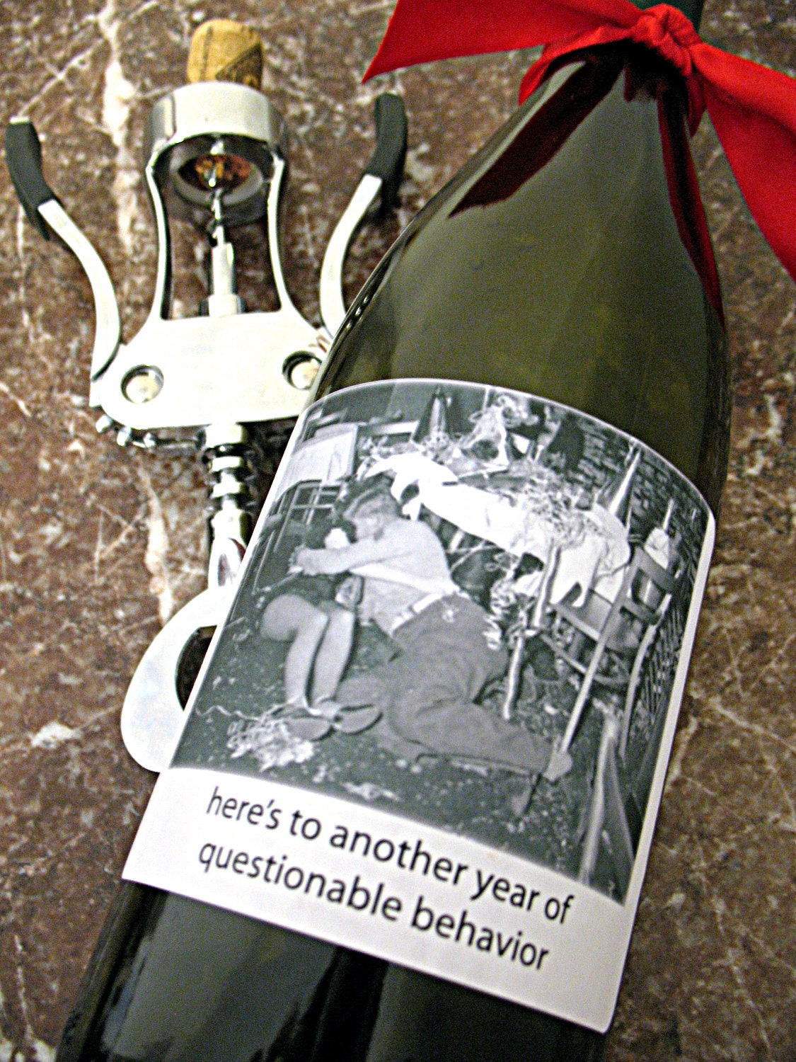 funny new years eve wine  champagne labels