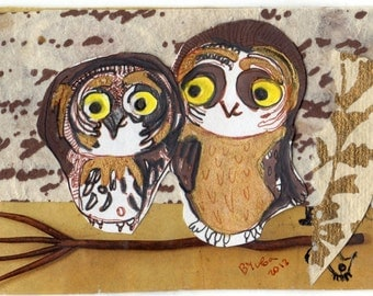 owl  sleep  2.5x3.5