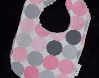 Blossom Disco Dot and Chenille Bib