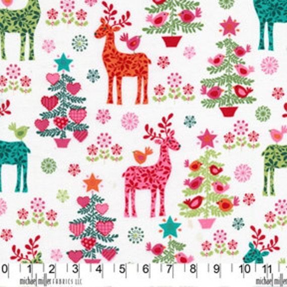 NORDIC Holiday Multi Reindeer Play by  Michael Miller Christmas 1 Yard