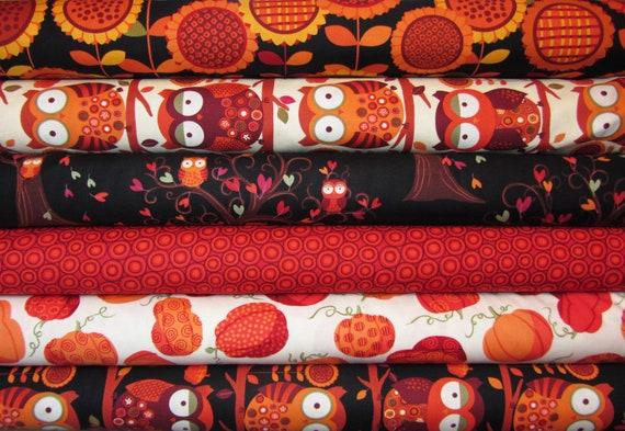 OWL BE THERE Sunflower Daze by Kavas Benartex Fabrics, 1/2 yard each, 3 yards