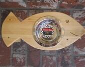 THE BIG FISH, SIngle Bowl Raised Cat Bowl, Cat Dish, Feeder, Handmade